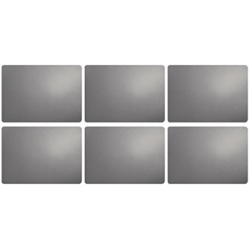 ASA Lot de 6 sets de table Ciment 46 x 33 cm Aspect cuir