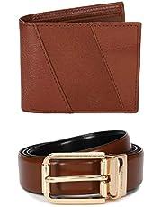 Allen Solly Tan Leather Men's Wallet Gift Set