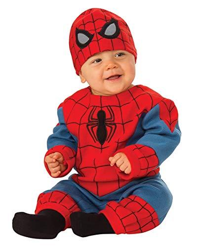Horror-Shop Originales Spiderman Baby Kostüm für kleine Superhelden S 6-12 Monate