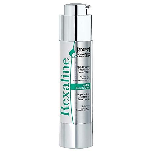 Rexaline - Hydra-Depolluskin - Gel crema protector - Tratamiento facial hidratante - Gel crema antipolución y antioxidante con moringa - Gel antiedad con ácido hialurónico - 50 ml