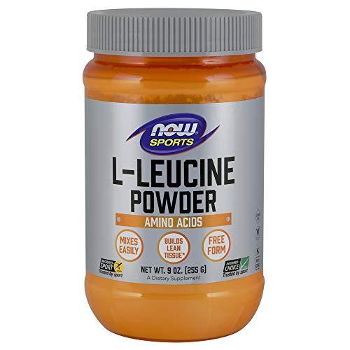NOW Sports Nutrition, L-Leucine Powder, Builds Lean Tissue*, Amino Acids, 9-Ounce