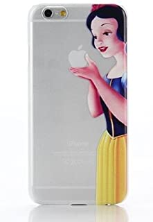 Phone Kandy Cartoon Transparent Hard Shell Cartoon Case Skin & Screen Guard for iPod Touch 5 or 6 (tip01) (iPod Touch 5 or 6, Snow White)