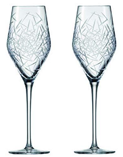 Zwiesel 1872 Hommage Glace 2-teiliges Champagnerglas Set, Kristall, farblos, 8 cm, 2-Einheiten