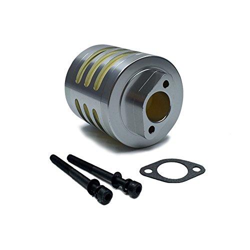 FLMLF Aluminum Air Filter Set for 1/5 RC Hpi Baja Rovan King Motor 5B 5T 5SC FG GoPed (Silver-Aluminum) TOP Speed RC World