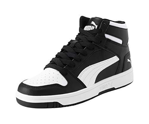 PUMA Rebound Layup SL Jr, Baskets Mixte, Black White, 37 EU