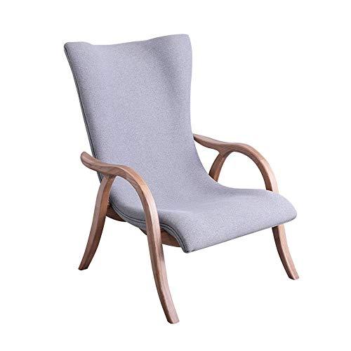 PN-Braes Silla Reclinable Otomana Accent Sillón tapizado de Madera sólida for la Sala Sofá Silla Sala De Estar (Color : Gray, Size : Free Size)