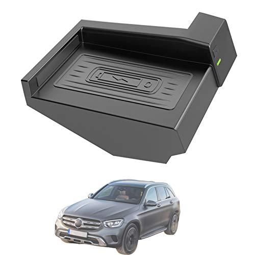 HJJH Cargador inalámbrico Qiwireless Coche para Mercedes Benz Class Class GLC Accesorios 2021-2015 con Todos los teléfonos habilitados Qi, instalación fácil, sin Necesidad de Romper la línea