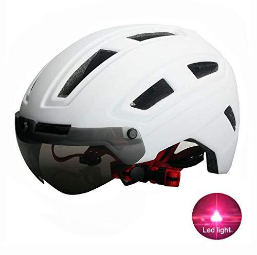 Adult Helmets Fahrradhelm Herren/Damen Radhelm Mountainbike Helm Cityhelm Fahrrad mit Abnehmbarer Schutzbrille Geeignet für Kopfumfang