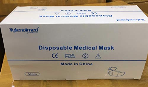 Goffdey 50Pcs Disposable Face 𝐌𝐀𝐒𝐊 with 3 Layer Filter, 3 Ply Filter Breathable Safety 𝐌𝐀𝐒𝐊 with Elastic Earloop