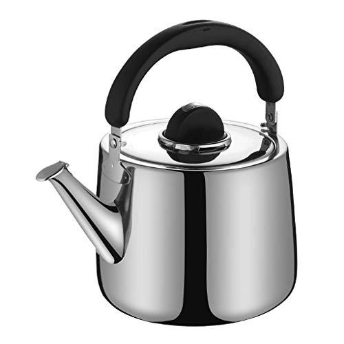 JN Herdkessel Kettle Edelstahl 304 Whistle Kessel Gas-Gas-Kocher Teekanne Haushalt große Kapazitäts Kettle Edelstahl Wasserkocher (Size : 8L)