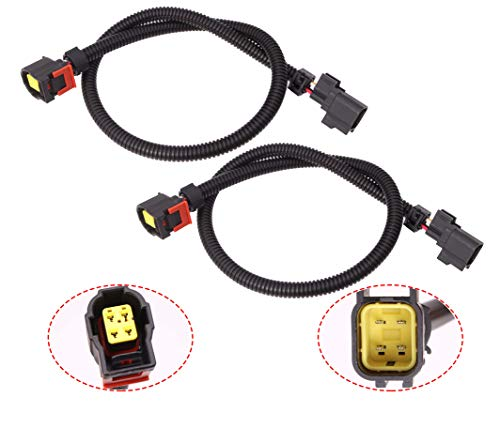 2Pcs 24' O2 Sensor Wire Extension Harnesses Compatible with Je-ep Do-dge Ram 1500 Viper Charger Challenger
