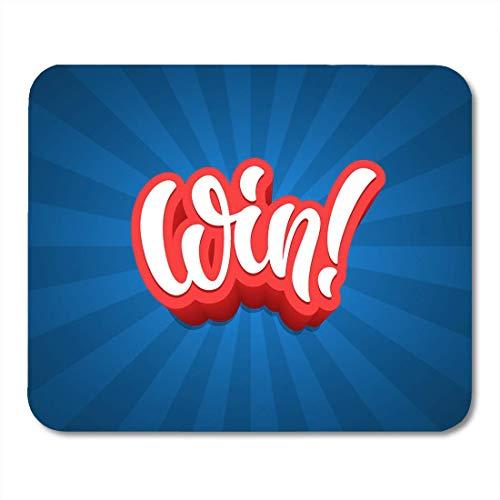 Mauspads Spiel Schwarz Gewinnspiel Gewinnen Sie Schriftzug Text Preis Pinsel Klassisches Mauspad für Notebooks, Desktop-Computer Matten Büromaterial