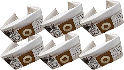 Casa Vacuums Replacement 6-Pk for RIDGID compatible with 23738 VF3501 HEPA FILTRATION Wet Dry Vac High-Efficiency Dust Bags, Wet Dry Vacuum Filter Bags, 6 Dust Collection Bags per Package