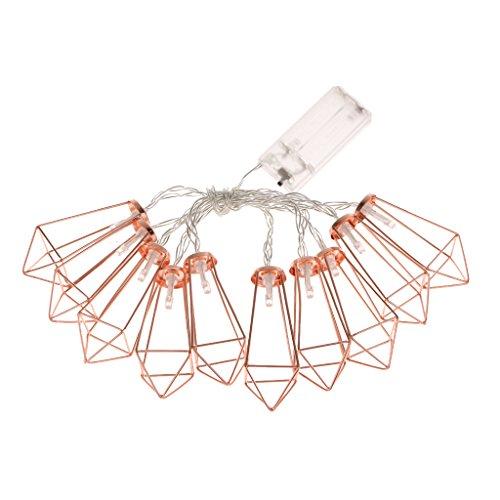 Sharplace Roségold Metall LED String Light Batteriebetrieben Dekoleuchte für Party, Garten, Weihnachten, Halloween, Hochzeit, Beleuchtung Deko