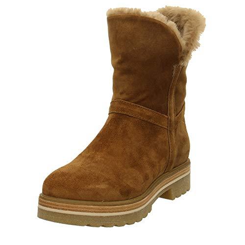 Alpe Woman Shoes Damen Stiefeletten Schlupfstiefel mit Warmfutter 4483.11.01 braun 739941