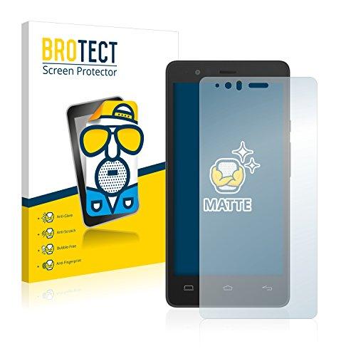 BROTECT 2X Entspiegelungs-Schutzfolie kompatibel mit BQ Aquaris E5s Bildschirmschutz-Folie Matt, Anti-Reflex, Anti-Fingerprint