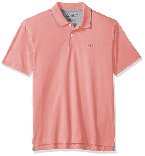 Dockers Men's Short Sleeve Performance Polo, Brandied Apricot, Small
