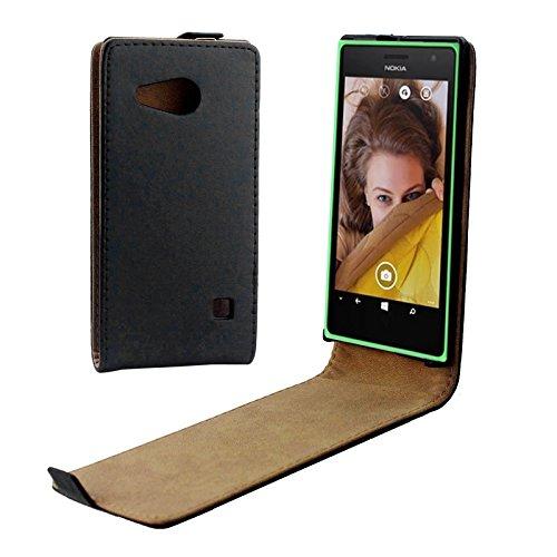 XCVXIAOQIGNG Handys Zubehör Vertikale Flip-Magnetfeld-Lederhülle for Nokia Lumia 730 Leder-Etui