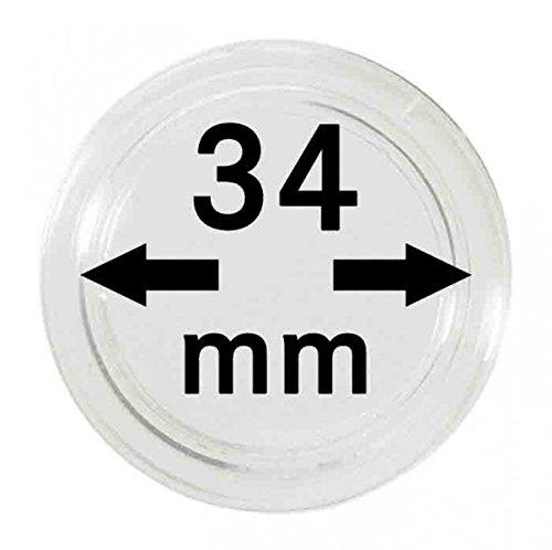 LINDNER Das Original Münzkapseln Innen-Ø 34 mm, 10er-Packung