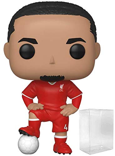 Funko Pop! Soccer: Liverpool F.C. - Virgil Van Dijk #16 Vinyl Figure (Includes Compatible Pop Box Protector Case)