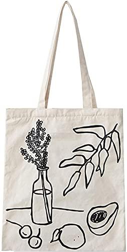 DOPN Elegante y espaciosa bolsa de transporte con bolsillo interior, bolsa de playa, fondo grande, bolso de mano, bolso de mano, bolso de la compra, bolsa de algodón, material de lona.