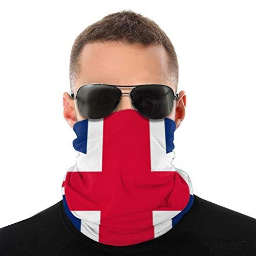 Verano Union Jack Bandana máscara facial – Protección contra el polvo del sol UV – Para correr, senderismo, motociclismo y ciclismo bufanda blanca