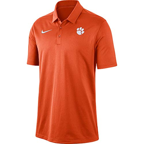 Nike Men's Clemson Tigers Orange Dri-FIT Franchise Polo (Large)