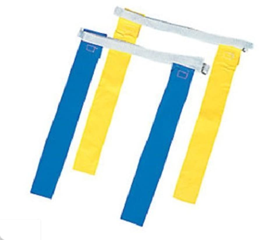立派なモナリザ良心的12 Sets Nylon Flag Football Flags Yellow Blue Adjustable Belts