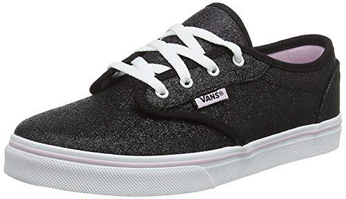 Vans Mädchen Atwood Low Missy Sneaker, Schwarz ((Glitter) Black/Lilac Snow V20), 28 EU