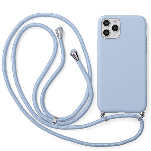 Yoedge Funda con Cuerda para Xiaomi Redmi 3/ Redmi 3S/ Redmi 3 Pro 5″ Flores Carcasa de Silicona Case Colgante Cordon Colgar Collar Correa de Cuello Cadena Cordón para Redmi3 el teléfono, púrpura
