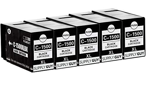 SupplyGuy 5 Druckerpatronen kompatibel mit Canon PGI-1500XL Schwarz passend für Canon Maxify MB2000 MB2050 MB2100 MB2150 MB2155 MB2300 MB2350 MB2700 MB2750 MB2755