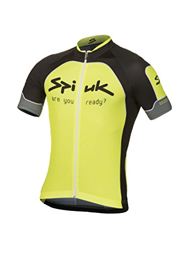 Spiuk Maillot Ciclismo Performance Amarillo/Negro 2XL