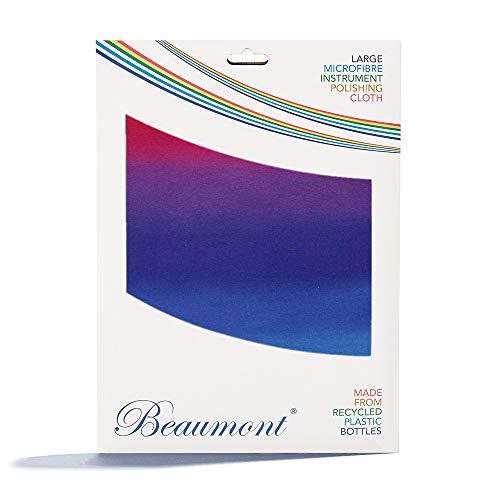 """Beaumont """"Hazy Rainbow"""" Poliertuch Wischtusch blau gemustert Instrumente Trompete Klarinette Sax Querflöte Microfasertuch Reinigungstuch Putztuch Messing Silber 40x30cm Geschenkidee"""