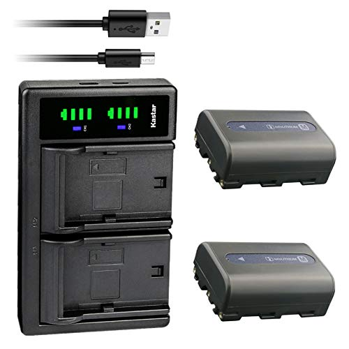 Kastar 2-Pack NP-FM50 Battery and LTD2 USB Charger Replacement for...