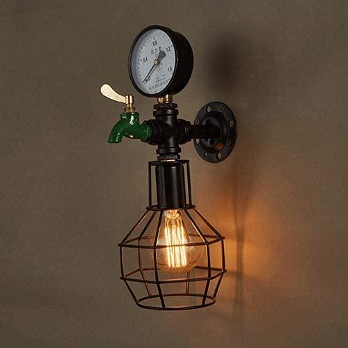 UWY Applique da Parete Creativa per Tubo dell'Acqua Lampada da Parete Vintage Lampada da Parete retrò Industriale Ferro Metallo E27 Design Apparecchio di Illuminazione per Interni per Bar caffet