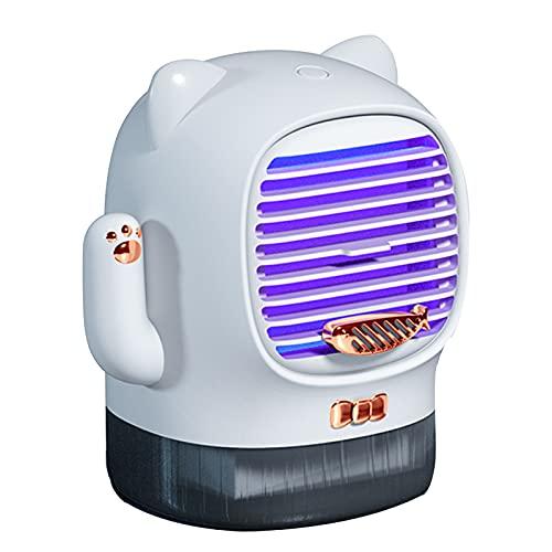 WWWRL Ventilador De Mesa Pequeño USB Portátil, Ventilador De Pulverización De Oficina, Mini Ventilador De Enfriamiento, Humidificación, con Luz Nocturna, para Estudiantes, Trabajadores De Oficina