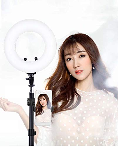 8 Inch LED Ring Licht met Statief En Mobiele Telefoon Houder Dimbaar 3200K-5500K voor Ring Make-up Licht, Selfie, Vlog, Live Broadcast, Youtube Mobiele Video Shooting
