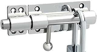 Runningfish 2 Pack Solid Aluminium Slide Bolt Latch Security Gate Sliding Latch Lock Mini Door Barrel Bolts Latches 3.5 Inch, White Tone