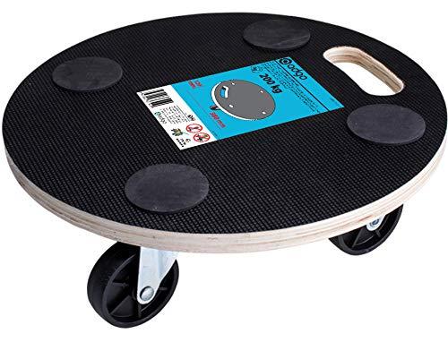 ADGO Plataforma de Transporte Redonda de 380 mm, Capacidad de Carga de Hasta 200 kg, Ruedas Giratorias de 360 Grados, Almohadilla de Transporte para la Remodelación de Muebles en Movimiento