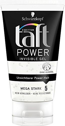 Schwarzkopf 3 Wetter Taft Power Gel, Invisible Mega Starker Halt 5, 5er Pack (5 x 150 ml)