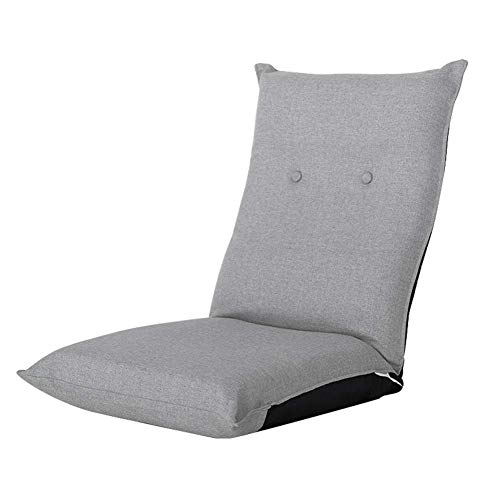 ZHFZD Klapstoel Zitzak, dikke vloer stoel comfortabel lezen TV-games thuis of op kantoor ligstoel (kleur: grijs) Size grijs