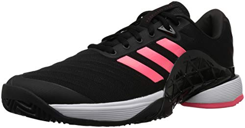adidas Men's Barricade 2018 Tennis Shoe, Black/Black/Flash Red, 4.5 M US