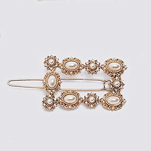 JINMENHUO Trendy Design 4 PCS/Set Flower Crystal Haarspangen Frauen Punk Gold Farbe Metall Rechteck Haarspangen Geschenk Haarnadel, 4