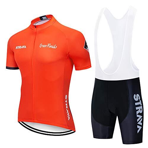XGFHX Traje de ciclismo para hombre chaqueta de manga corta + pantalones cortos de gel 3D la ropa de ciclismo es seca y transpirable