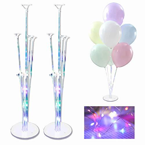 Ballonhalter Lang,LuftballonsStänder,Ballonstäbe Mit Halterung,Transparenter Balloon Stand Kit,Ballon StickHalter,Transparenter Balloon Stand,Luftballons Ständer Halter
