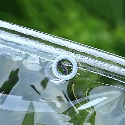 U/D Abdeckplanen, Hochleistungs-wasserdichte Durchsichtige Plane Mit Ösen, Regensichere Winddichte Transparente PVC-Plastikplane, Gartenhofabdeckung Im Garten,Clear,1x1.5m