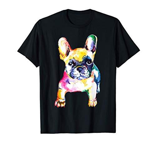 French Bulldog Original Watercolor Hand Drawing Gift T-Shirt