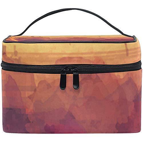 Multifonction Love in Pairs Painting Cosmetic Bag Makeup Toiletry Kit Kit Case Zipper Portable Waterproof