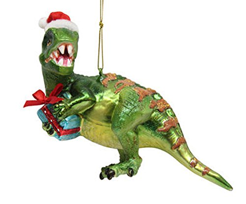 December Diamonds Blown Glass Ornament - Dinosaur with Gift