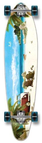 Yocaher Beach Series Complete Kicktail Skateboards Longboard Cruiser Black Widow Premium 80A Grip Tape Aluminum Truck ABEC7 Bearing 70mm Skateboard Wheels (Complete - Kicktail - 05 - Getaway)